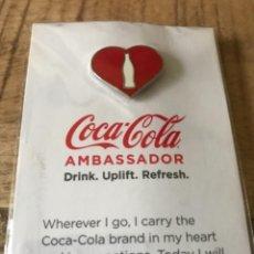 Coleccionismo de Coca-Cola y Pepsi: EXCLUSIVO PIN INSIGNIA COCA-COLA EMBASSADOR. SIN ESTRENAR. EDICIÓN LIMITADA. Lote 252549255