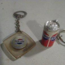 Coleccionismo de Coca-Cola y Pepsi: 2 LLAVEROS COLECCION PEPSI COLA. Lote 253965980