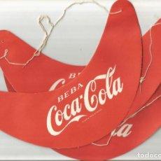 Coleccionismo de Coca-Cola y Pepsi: ANTIGUAS 3 VISERAS DE CARTON - BEBA COCA-COLA. Lote 254063410
