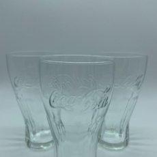 Coleccionismo de Coca-Cola y Pepsi: TRES VASOS DE COCA-COLA. Lote 254063970