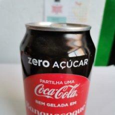 Coleccionismo de Coca-Cola y Pepsi: LATA COCA-COLA ZERO LLENA BRAGANZA PORTUGAL. Lote 254072375