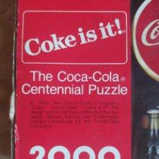 Coleccionismo de Coca-Cola y Pepsi: PUZZLE COCA-COLA, 2000 PIEZAS, THE COCA-COLA CENTENNIAL PUZZLE, SPRINBOK BY HALLMARK, 34´X42´1/2. Lote 254072965