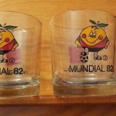 Coleccionismo de Coca-Cola y Pepsi: VASOS DE CRISTAL MUNDIAL FUTBOL ESPANA 1982. Lote 256085615