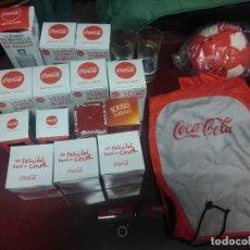 Coleccionismo de Coca-Cola y Pepsi: LOTE DE COCACOLA COCA COLA, HAY VASOS,TARROS, UNA BOLSA Y UN BALON Y DOS VASOS DE FANTA. Lote 257428175