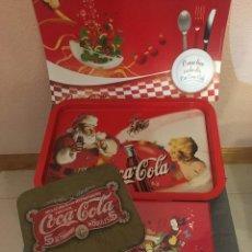 Coleccionismo de Coca-Cola y Pepsi: UN VARIADO LOTE DE PRODUCTOS VINTAGE AÑOS 90 DE LA MARCA COCA COLA. NUEVOS.. Lote 262003535