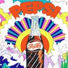 Coleccionismo de Coca-Cola y Pepsi: PEPSI COLA - CARTEL ORIGINAL AMERICANO USA - PUBLICITARIO BAR PUB GASOLINERA CALIFORNIA. 100X70 CM. Lote 262921505