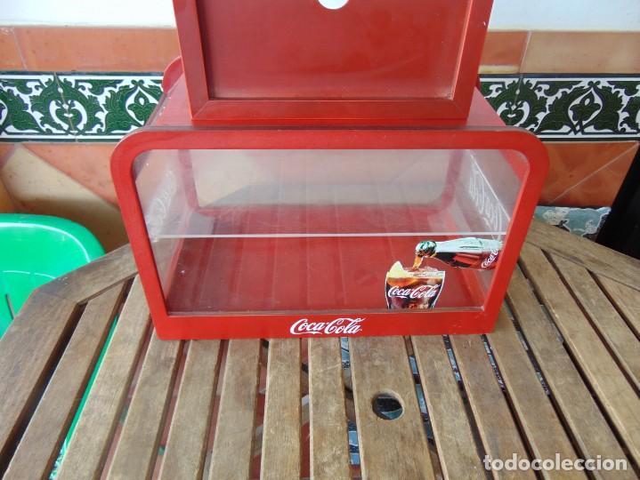 Coleccionismo de Coca-Cola y Pepsi: VITRINA , EXPOSITORA , EXPOSITOR DE COCA COLA, PUBLICIDAD MADERA Y METACRILATO - Foto 2 - 263731585