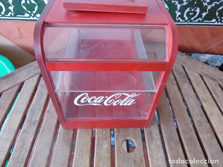 Coleccionismo de Coca-Cola y Pepsi: VITRINA , EXPOSITORA , EXPOSITOR DE COCA COLA, PUBLICIDAD MADERA Y METACRILATO - Foto 4 - 263731585