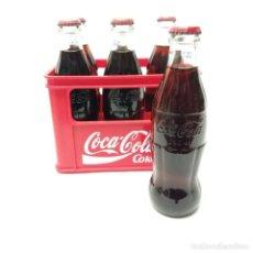 Coleccionismo de Coca-Cola y Pepsi: CAJA COCA-COLA CON 6 BOTELLINES 250 ML, ORÍGEN FRANCIA ISSY-LES-MOULINEAUX CADUCIDAD BOTELLINES 2014. Lote 265651549