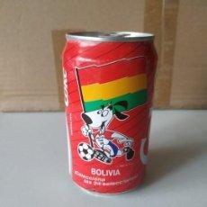 Coleccionismo de Coca-Cola y Pepsi: LATA FÚTBOL COCA COLA BOLIVIA REFRESCO MUNDIAL ESTADOS UNIDOS WORLD CUP 94. SIN ABRIR. VACÍA. Lote 265955548