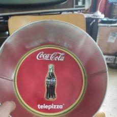 Coleccionismo de Coca-Cola y Pepsi: BANDEJA TIPO BOWL COCA COLA Y TELEPIZZA 23 CM DE DIÁMETRO. Lote 267238829