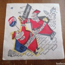 Coleccionismo de Coca-Cola y Pepsi: ANTIGUA SERVILLETA AÑOS 50 PEPSI COLA Y SCHWEPPES. Lote 267805879