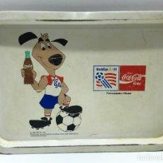 Collectionnisme de Coca-Cola et Pepsi: BANDEJA METÁLICA ESMALTADA PUBLICIDAD DE COCA COLA - MUNDIAL DE USA 94. Lote 275794438