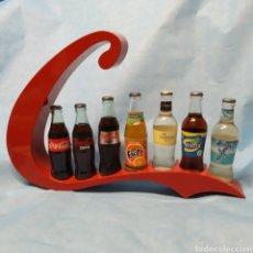 Coleccionismo de Coca-Cola y Pepsi: EXPOSITOR DE BAR PARA BOTELLAS DE LA FAMILIA COCA-COLA FANTA NORDIC MIST Y AQUARIUS, NUEVO SIN USAR.. Lote 276371118