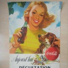 Coleccionismo de Coca-Cola y Pepsi: ANTIGUO CARTEL DE COCA COLA. Lote 277159943