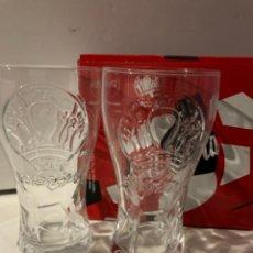 Coleccionismo de Coca-Cola y Pepsi: COCA COLA - VASOS UEFA EURO 2020 - LOTE X 2. Lote 277297458