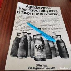 Coleccionismo de Coca-Cola y Pepsi: BITTER KAS DE LUXE ANUNCIO PUBLICIDAD REVISTA 1978. Lote 277761128
