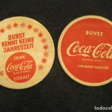 Coleccionismo de Coca-Cola y Pepsi: COCA COLA-LOTE DE 2 POSAVASOS-VER FOTOS-(K-4123). Lote 288084288