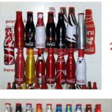 Coleccionismo de Coca-Cola y Pepsi: 2 COLECCIONES MINI BOTELLAS ALUMINIO COCA COLA 15+20. Lote 288571163