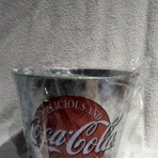 Coleccionismo de Coca-Cola y Pepsi: CUBO METÁLICO COCA COLA COCACOLA. Lote 294499253