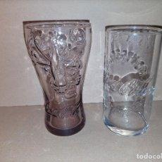 Coleccionismo de Coca-Cola y Pepsi: 2 VASOS DE CRISTAL COCA COLA COCACOLA. PERFECTO ESTADO. Lote 294859238