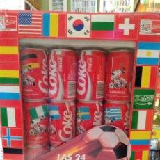 Coleccionismo de Coca-Cola y Pepsi: COCA-COLA 24 LATAS DEL MUNDIAL. Lote 295488203