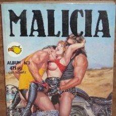 Cómics: COMIC PARA ADULTOS MALICIA ALBUM Nº 3 DE ED. ASTRI EN BARCELONA 1992. Lote 24901918