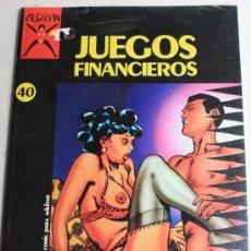 Cómics: COMIC PARA ADULTOS: COLECCION X, Nº 40, JUEGOS FINANCIEROS.(PRECINTADO). Lote 26144599
