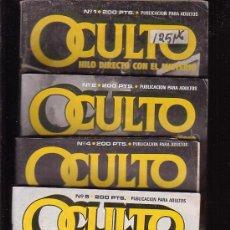 Cómics: OCULTO / LOTE DE 4 EJEMPLARES - EDITA : ZINCO DC. Lote 30872405