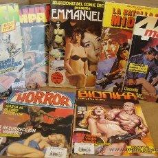 Cómics: LOTE 9 X RELATOS GRAFICOS PARA ADULTOS - CRIMEN BIONIKA EMMANUELLE HORROR ... ETC - EROTICO ALBUM. Lote 35768426