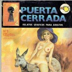 Cómics: CÓMIC EROTICO A PUERTA CERRADA Nº 9. Lote 51118581