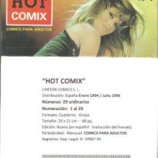 Cómics: HOT COMIX - COLECCIÓN COMPLETA 29 NÚMEROS. -OPORTUNIDAD COLECCIONISTAS. Lote 113354279