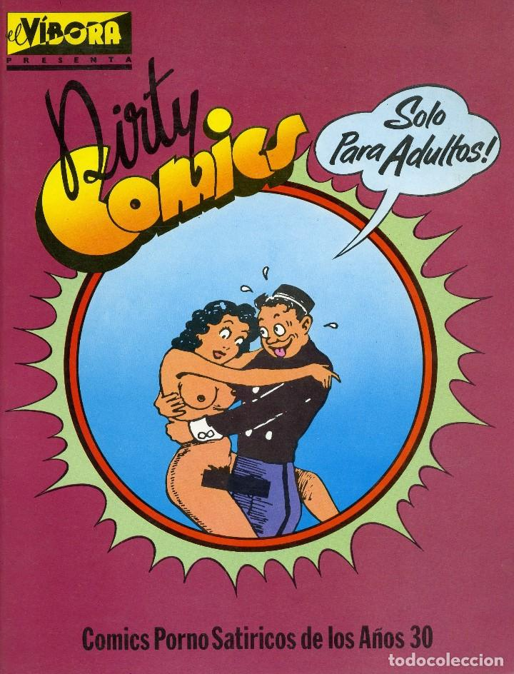 DIRTY COMICS. COMICS PORNO SATÍRICOS DE LOS AÑOS 30. EDICIONES LA CUPULA. (Coleccionismo para Adultos - Comics)