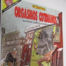 Cómics: ORGASMOS COTIDIANOS - EL JUEVES -PENDONES DEL HUMOR Nº 77,POR ALFONSO LOPEZ & XAVIER ROCA. Lote 236247350