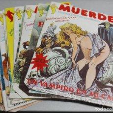 Comics: MUERDE / PUBLICACIÓN PARA ADULTOS / COLECCIÓN COMPLETA DE 13 NÚMEROS / J. F. EDICIONES 1976. Lote 145578426