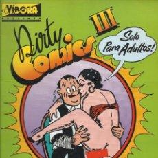 Cómics: DIRTY COMICS III. COMICS PORNO SATÍRICOS DE LOS AÑOS 30. Lote 152065430