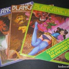 Cómics: LOTE DE 3 REVISTAS - BLANCANIEVES (Y LOS SIETE ENANOS VICIOSOS) - 1977 - NÚM. 1 - 2 - 3. Lote 169788504