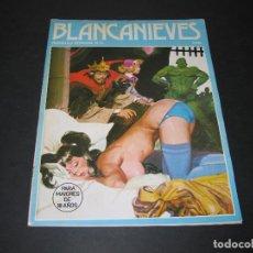 Cómics: BLANCANIEVES (Y LOS SIETE ENANOS VICIOSOS) - 1977 - NÚM. 12 - ERROR DE GRAPADO, FALTA GRAPA SUPERIOR. Lote 169789516