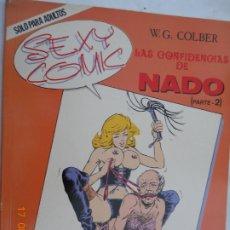 Comics: LAS CONFIDENCIAS DE NADO, Nº 2 ( 2ª PARTE) W. G. COLBER - EDITORIAL BRIO SOLO PARA ADULTOS -1989. Lote 174968832