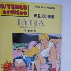 Fumetti: LYDIA , DONCELLA DE LUJO , (3ª PARTE) - ED. PARA COLECCIONISTAS - W.G.COLBER SOLO PARA ADULTOS 1989. Lote 225848020