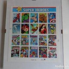 Cómics: COLECCION 20 SELLOS DE SUPER HEROES, AMERICANOS. Lote 177770268