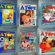 Cómics: A TOPE. LOTE CON 6 EJEMPLARES. CÓMICS DE HUMOR ERÓTICO. Lote 196035988
