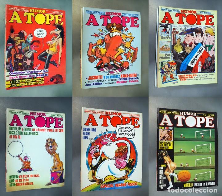 A TOPE. LOTE CON 6 EJEMPLARES. CÓMICS DE HUMOR ERÓTICO (Coleccionismo para Adultos - Comics)