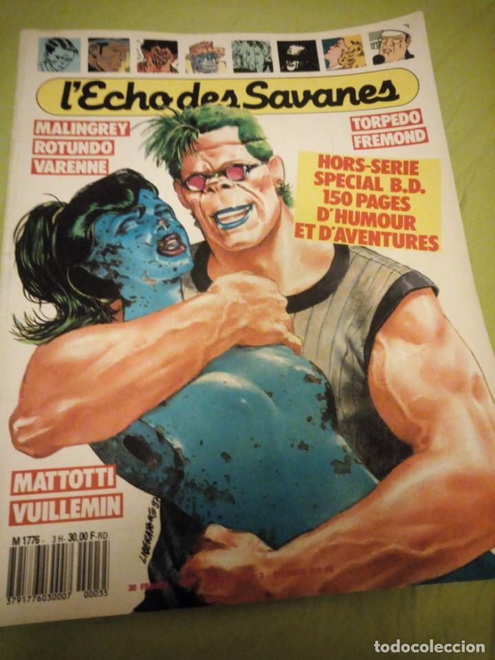 Cómics: revista herotica lecho des savanes nº 3 1987,frances - Foto 2 - 196114910