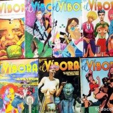 Cómics: LOTE DE 7 REVISTAS CMICS - EL VIBORA - NUMEROS 70, 73, 76, 78, 80, 81 Y 82.NUEVOS Y BIEN CONSERVADOS. Lote 205606110