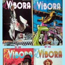 Cómics: LOTE DE 4 REVISTAS CMICS - EL VIBORA - NUMEROS 48, 49, 58 Y 59. NUEVOS Y BIEN CONSERVADOS. Lote 205606745
