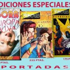 Cómics: LOTE DE 3 REVISTAS COMICS - EL VIBORA - EDICIONES ESPECIALES. NUEVOS Y BIEN CONSERVADOS. Lote 205607482