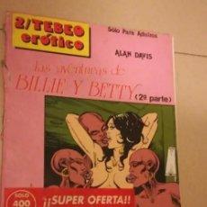 Cómics: ALBUN PARA ADULTOS: TEBEO ERÓTICO, NÚMERO DOS: LAS AVENTURAS DE BILLY Y BETTY. 1989. ÚNICO. INN. Lote 212739860