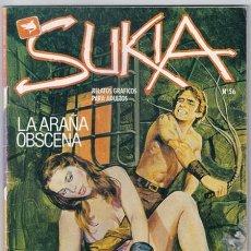 Cómics: SUKIA, 56: LA ARAÑA OBSCENA | NAUFRAGIO - ZINCO, 04/1988. Lote 221842270
