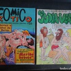 Fumetti: LOTE DE 2 REVISTAS CÓMIC ERÓTICO, VER FOTOS. Lote 223071330